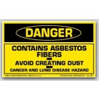 "3x5"" Danger Contains Asbestos Fibers Labels 500/rl (Meets military standard.)"