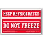 "3x5"" Refrigerate Do Not Freeze Labels 500/rl"