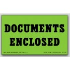 "3x5"" Documents Enclosed Shipping Labels 500/rl"