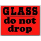"3x4"" Do Not Drop Glass Labels 500/rl"