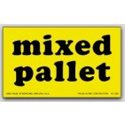 "3x5"" Mixed Pallet Shipping Labels 500/rl"