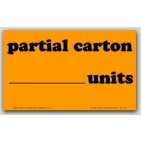 "3x5"" Partial Carton Shipping Labels 500/rl"