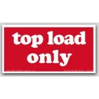 """2-1/2x5"""" Top Load Only Shipping Labels 500/rl"""