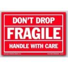 "4x6"" Don't Drop Fragile Labels 500/rl"