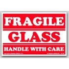"3x5"" Glass Fragile Labels 500/rl"