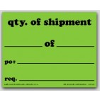 "4x5"" Quantity Of Shipment Shipping Labels 500/rl"
