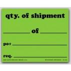 "4x5"" Quantity Of Shipment Shipping Labels 500/rl"