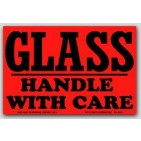 "4x6"" Handle with Care Glass Labels 500/rl"