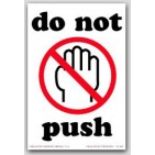 "4x6"" Do Not Push Labels 500/rl"