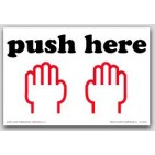 "4x6"" Push Here Shipping Labels 500/rl"