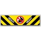 """2x8"""" Heavy Warning Shipping Labels 500/rl"""
