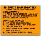 """4x5-1/4"""" Inspect Immediately Shipping Labels 500/rl"""