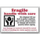 "4x6"" Inspect For Damage Fragile Labels 500/rl"