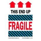 "4x6"" This End Up Fragile Labels 500/rl"