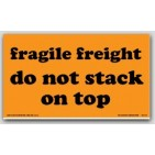 "4x7"" Freight Do Not Stack On Top Fragile Labels 500/rl"