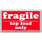 "4x7"" Top Load Only Fragile Labels 500/rl"