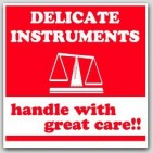 "4x4"" Fragile Delicate Instruments Labels 500/rl"