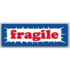 "1x3"" Fragile Labels 500/rl"
