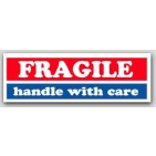 "1x3"" Fragile Handle With Care Labels 500/rl"