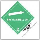 "Compressed Gas n.o.s. UN1956 5x4"" Paper Labels 500/rl"