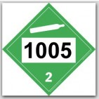Placards Printed UN1005 Ammonia, Anhydrous, Liquified on self adhesive vinyl. 25/pkg