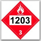 Printed UN1203 Gasoline Polycoated Tagboard Placards 25/pkg