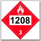 Printed UN1208 Hexanes Polycoated Tagboard Placards 25/pkg