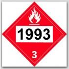 Placards Printed UN1993 Flammable Liquids, n.o.s, Fuel Oilon self adhesive vinyl. 25/pkg