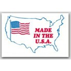 "3x4-1/2"" Made In The USA Labels 500/rl"