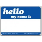 "3-1/2x2-1/2"" Hello My Name Is Labels 500/rl"