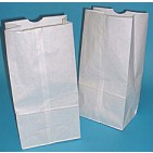 #6 White Regular Duty Grocery Bags 6x3-5/8x11 - 500/Bale