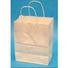 8x4-3/4x10-1/2 White Paper Shopping Bags - 250/cs