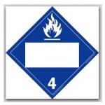 DOT 4 Digit Placards - Class 4