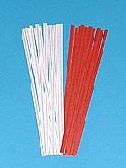 """4"""" Red Paper Twist Ties 2000/bx"""