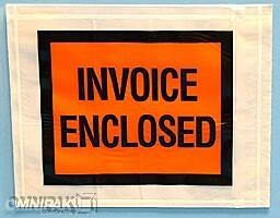 "4-1/2""x5-1/2"" Solid Invoice Enclosed Envelopes 1000/cs"
