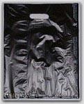 "8-1/2x11"" Black HDPE Merchandise Bags 1000/cs"