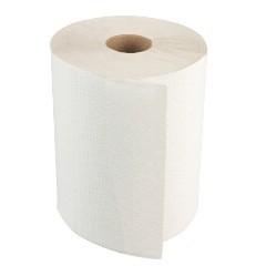 "8""x800ft/rl White Hardwound Roll Towels 6rl/cs"