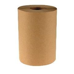 "8""x600ft/rl Brown Hardwound Roll Towels 12rl/cs"