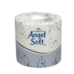 """2ply Angel Soft Toilet Tissue 4.5X4.05"""" White 450sht/rl - 80/cs"""