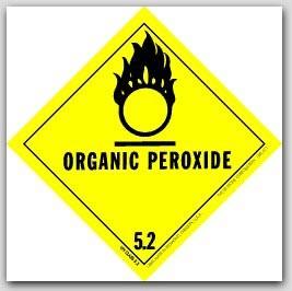 "4x4"" Class 5 Organic Peroxide Vinyl Labels 500/rl"