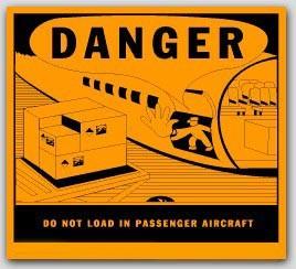 "4-1/2x4-3/4"" Do Not Load In Passenger Aircraft Vinyl Labels 500/rl"