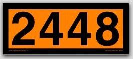 Placards 4-Digit Orange Panels. Removable Vinyl No. 2448 25/pkg