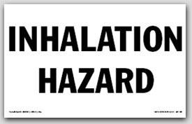 Inhalation Hazard Self Adhesive Vinyl Placards 25/pkg