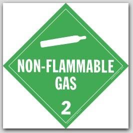 Non-Flammable Class 2 Self Adhesive Vinyl Placards 25/pkg