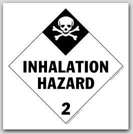 Inhalation Hazard Class 2 Polycoated Tagboard Placards 25/pkg