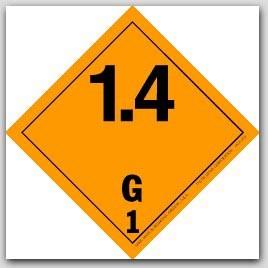 "4x4"" Class 1.4 Explosives Paper Labels G1 500/rl"