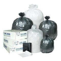 "24x24"" 8mic Natural High-Density Trash Can Liners 1000/cs"