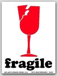 """3x4"""" International Labels Fragile 500/rl"""