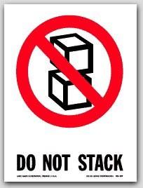 "3x4"" International Labels Do Not Stack 500/rl"