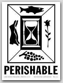 "3x4"" International Labels Perishable 500/rl"